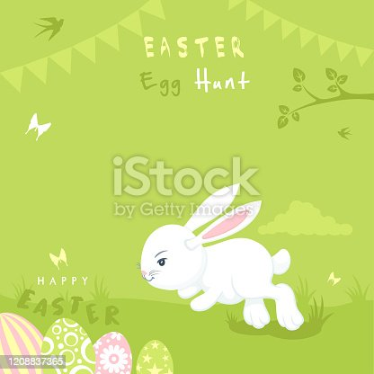 Easter Party Bunny Invitation