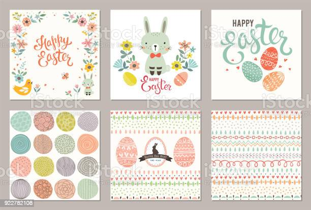 Ostern Party Cards03 Stock Vektor Art und mehr Bilder von Altertümlich