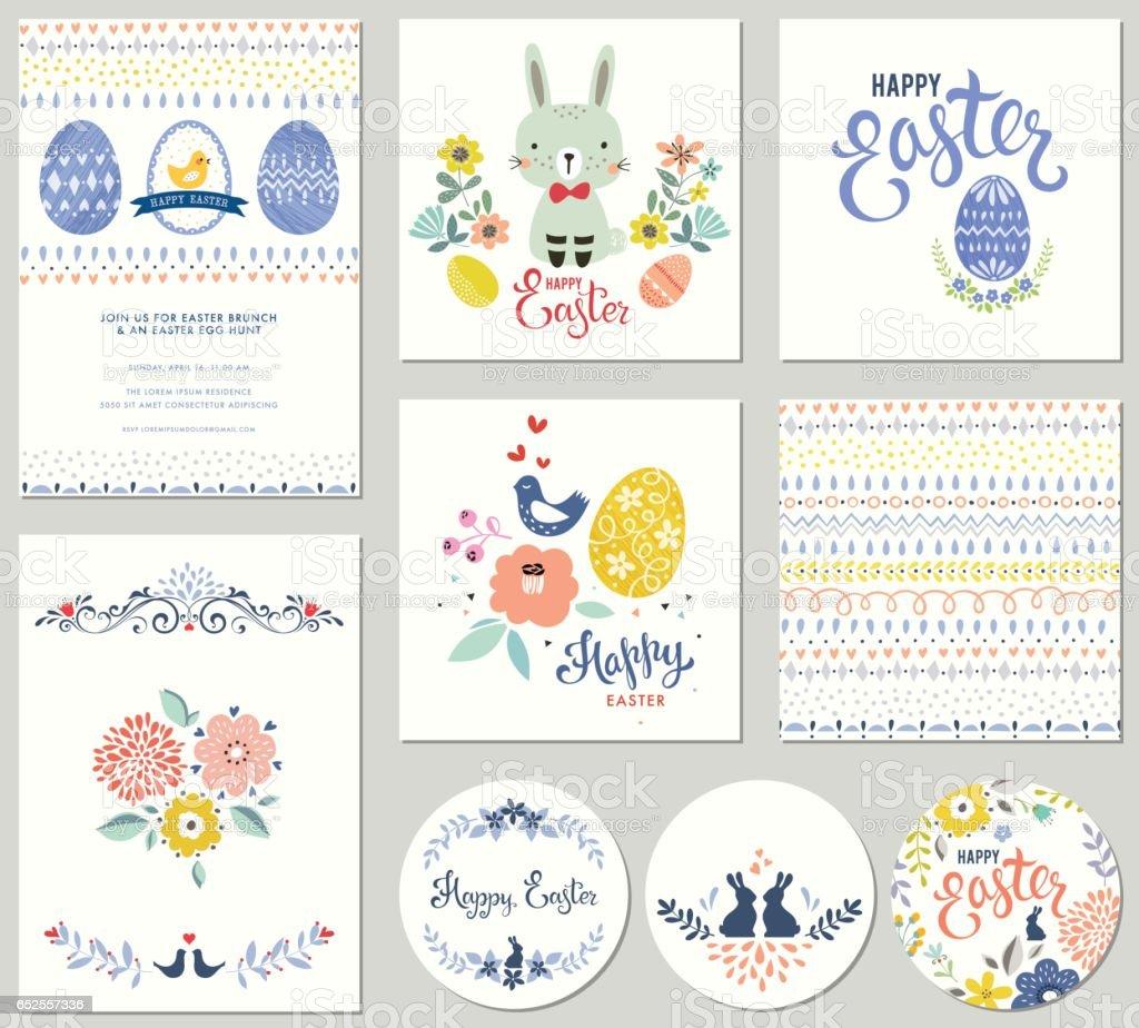 Collection_01 fiesta de la Pascua - ilustración de arte vectorial