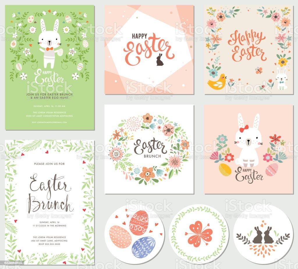 Collection_05 fête de Pâques - Illustration vectorielle