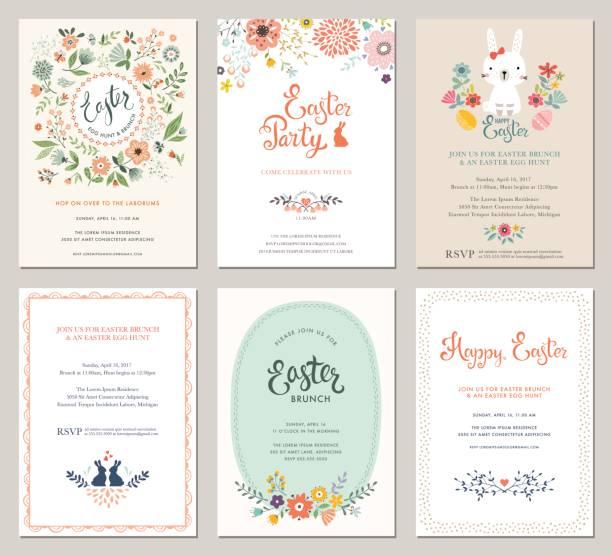 Invitations_01 fiesta de la Pascua - ilustración de arte vectorial