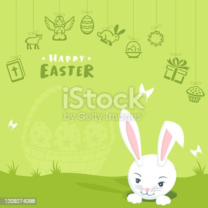 istock Easter Party Poster 1209274098