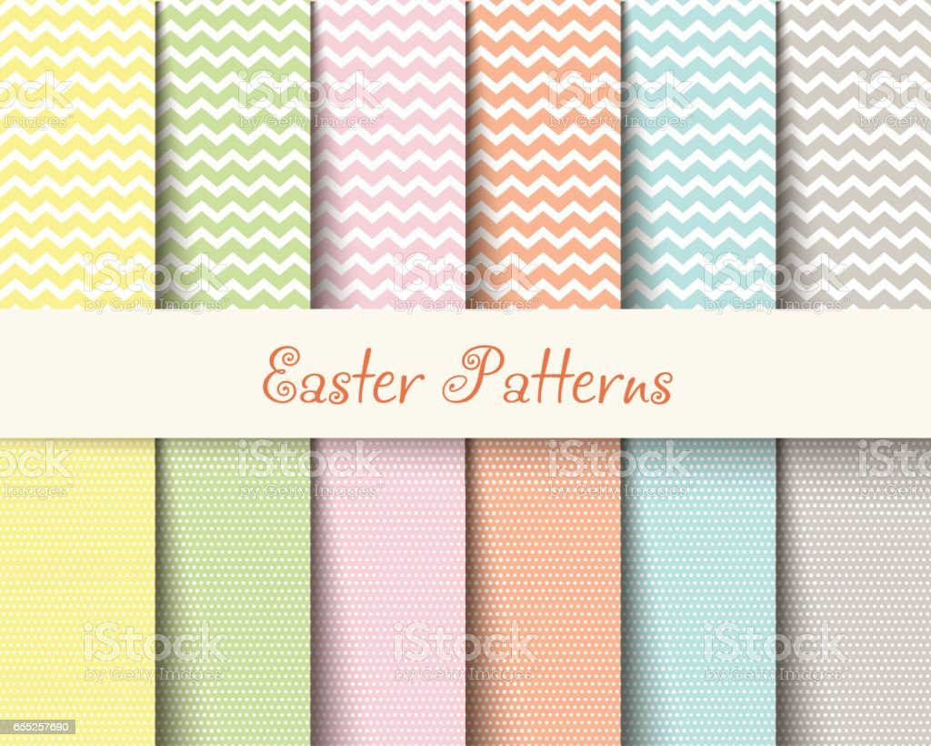 Easter patterns vector art illustration