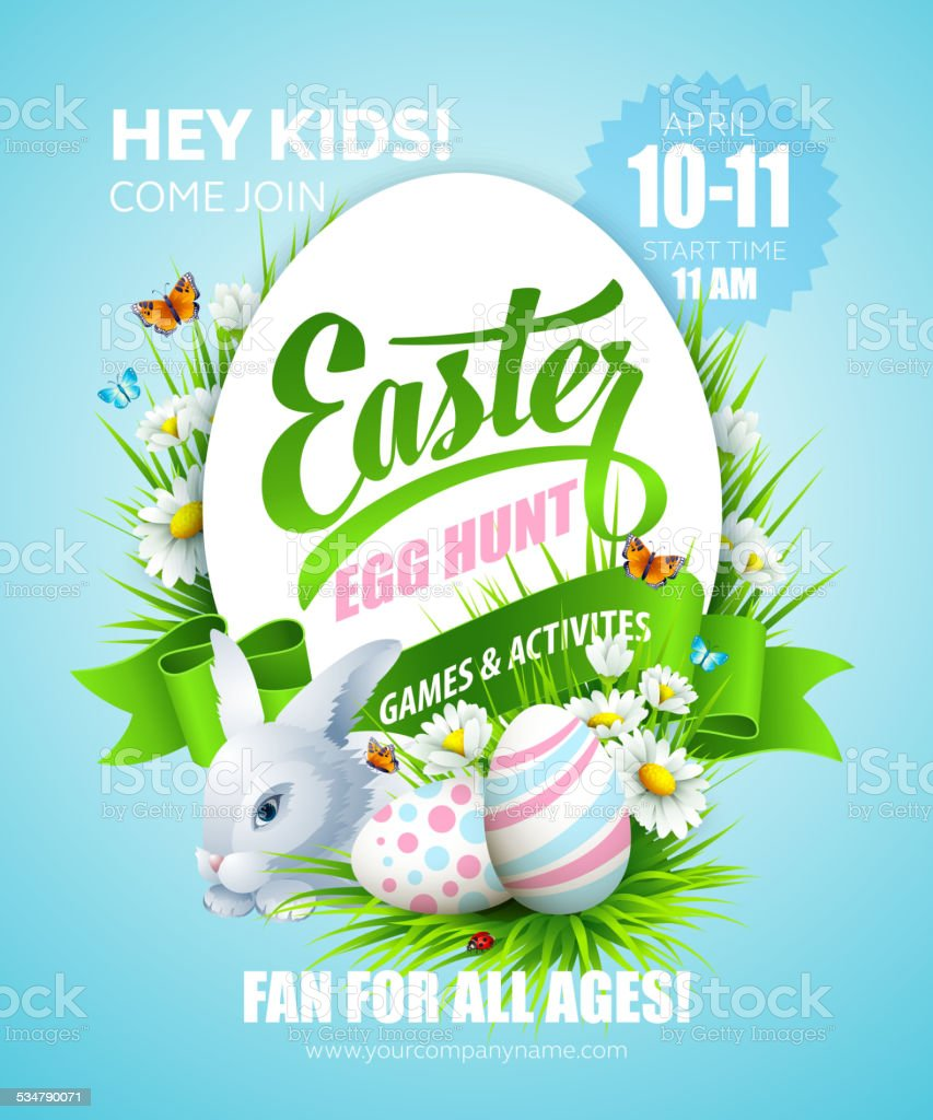 Easter poster. Vector illustration vector art illustration