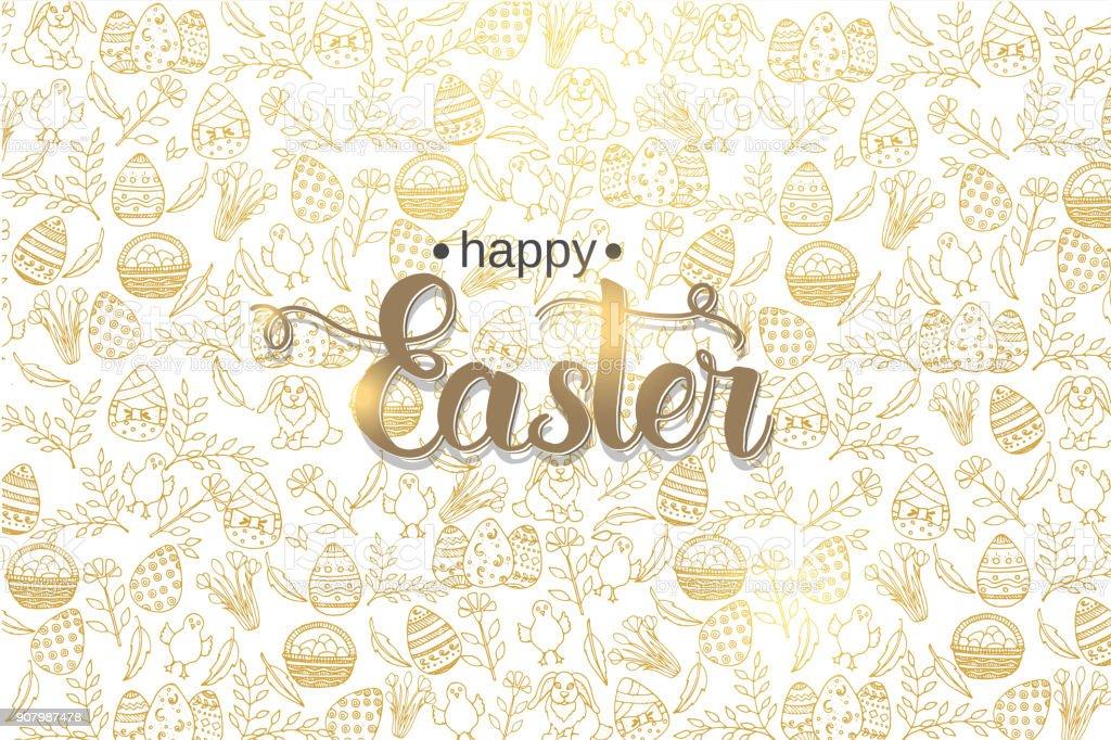 Ostern-Plakat mit handgemachten trendige Schriftzug