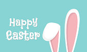 istock Easter rabbit, easter Bunny. Vector illustration. 1197503605