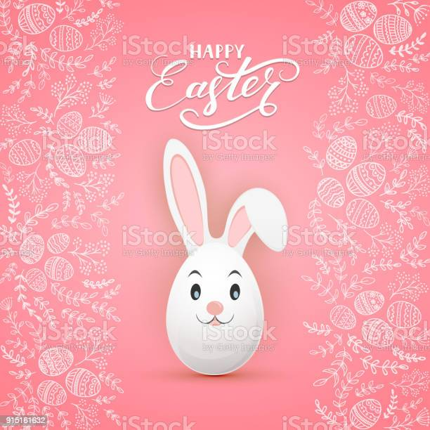 Easter rabbit on pink background with floral elements and eggs vector id915161632?b=1&k=6&m=915161632&s=612x612&h=lev kd48lgq4zxbj indeeng3 opaoe79b4a  c1orc=