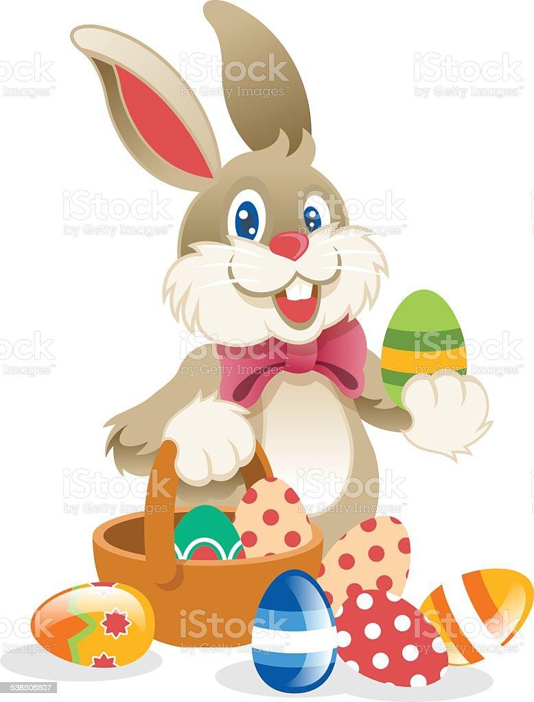 Easter Rabbit. Vector illustration vector art illustration
