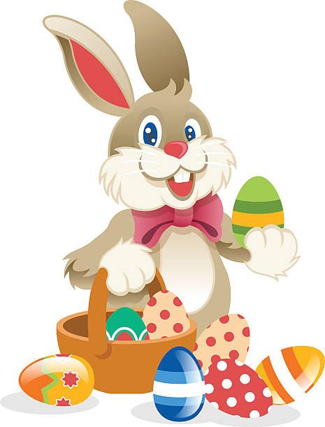 easter rabbit. vektor-illustration - hase stock-grafiken, -clipart, -cartoons und -symbole