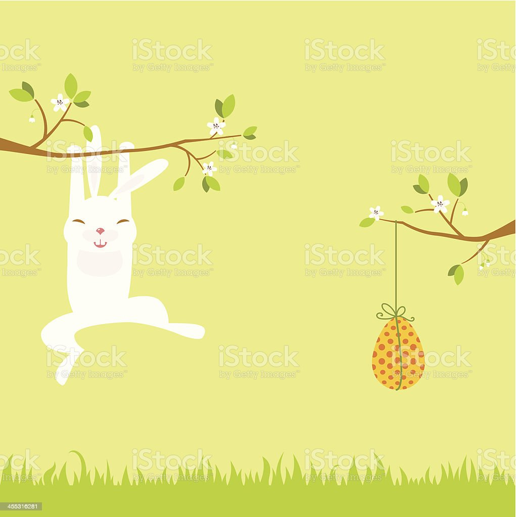 Easter rabbit with egg royalty-free easter rabbit with egg stock vector art & more images of animal egg