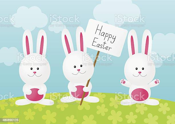 Easter rabbits on spring background vector id480890125?b=1&k=6&m=480890125&s=612x612&h=n lmrnptgnqwh8ks0aaprbarfibv jldrtc55jkgh3a=
