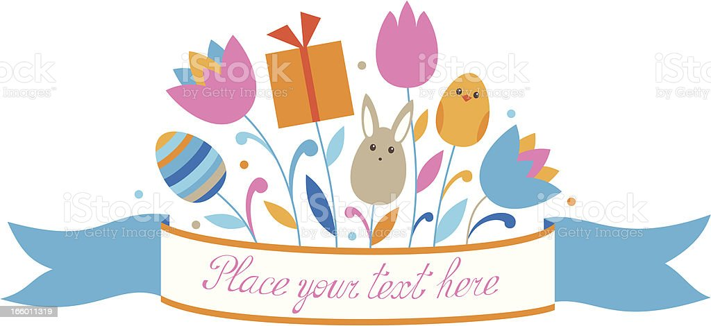 Easter ribbon royalty-free stock vector art