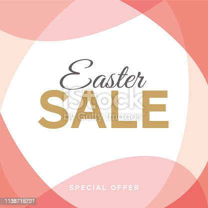 Easter sale background with eggs frame. - Illustration