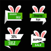 Easter Sale banner , vector illustration