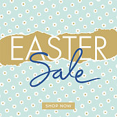 Easter Sale design for advertising, banners, leaflets and flyers - Illustration