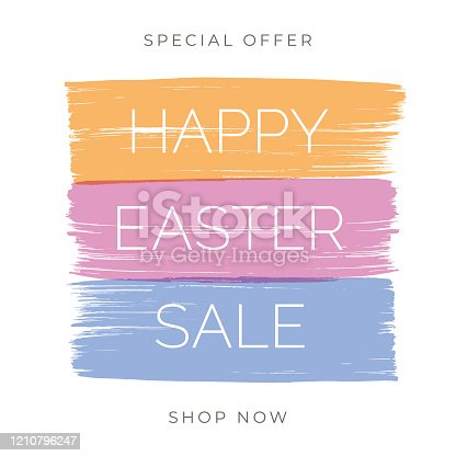 Easter Sale design for advertising, banners, leaflets and flyers.