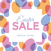 Easter Sale Design for advertising, banners, leaflets and flyers. Stock illustration
