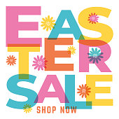 istock Easter Sale design for advertising, banners, leaflets and flyers. 1306675664