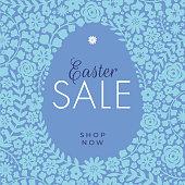 Easter Sale design for advertising, banners, leaflets and flyers. - Illustration