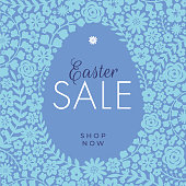Easter Sale design for advertising, banners, leaflets and flyers. - Illustration