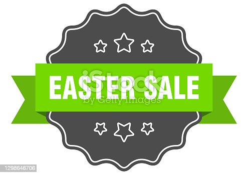 istock easter sale label. easter sale isolated seal. sticker. sign 1298646706