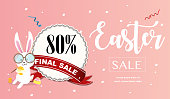 Easter sale vector banner design and template