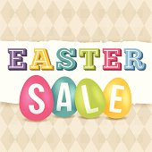 Easter sale concept graphic. EPS 10 file. Transparency effects used on highlight elements.