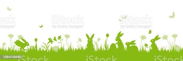 Osternszenebanner Isoliertvektorillustration Stock Vektor Art und mehr Bilder von Banneranzeige