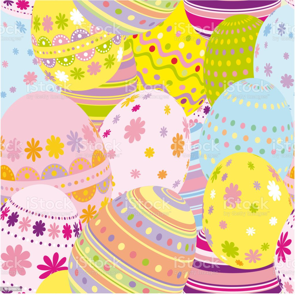 Easter Seamless background royalty-free easter seamless background stock vector art & more images of backgrounds