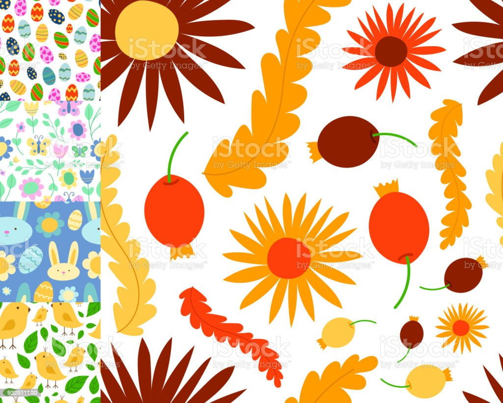 イースターのシームレスなパターン背景デザイン ベクトル休日お祝い