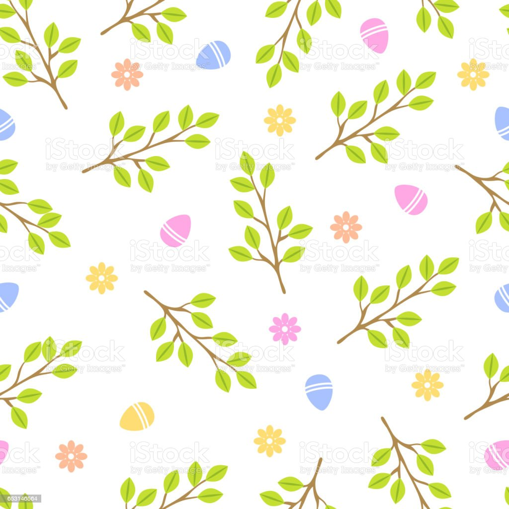 Easter Seamless Pattern Retro Vintage Design Party Holiday