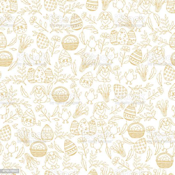 Easter seamless pattern with golden paschal symbols in sketch style vector id929578842?b=1&k=6&m=929578842&s=612x612&h=9vd3clapqcoynm6jxg5wafmp55ms2vk nhuqf k1dp8=