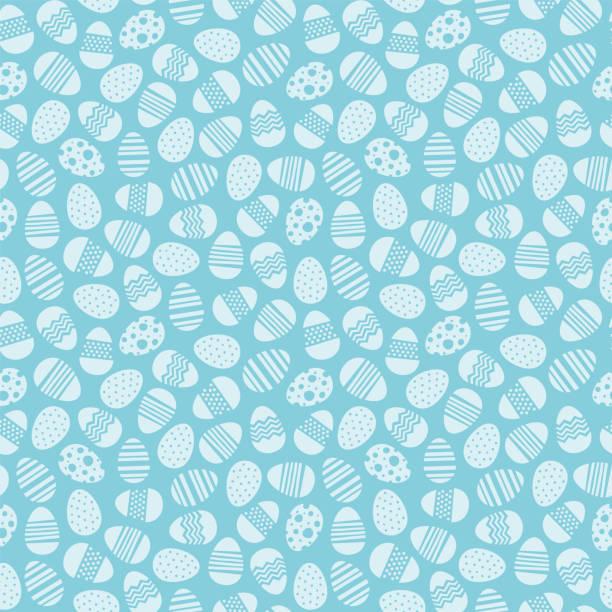 달걀 부활절 원활한 벡터 패턴 배경 - 부활절 달걀 stock illustrations
