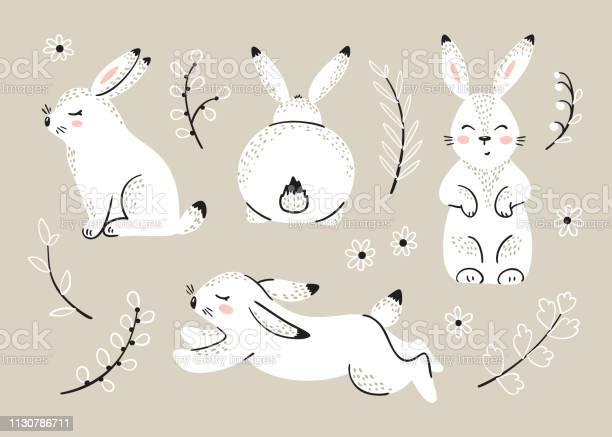 Easter set with bunnies spring or summer floral elements with little vector id1130786711?b=1&k=6&m=1130786711&s=612x612&h=igaemqg6xjhek0k6s kf m9sqnrsfuxlzwwrbvd3aru=