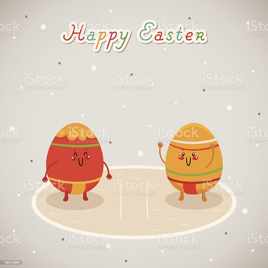 Easter sumo royalty-free stock vector art
