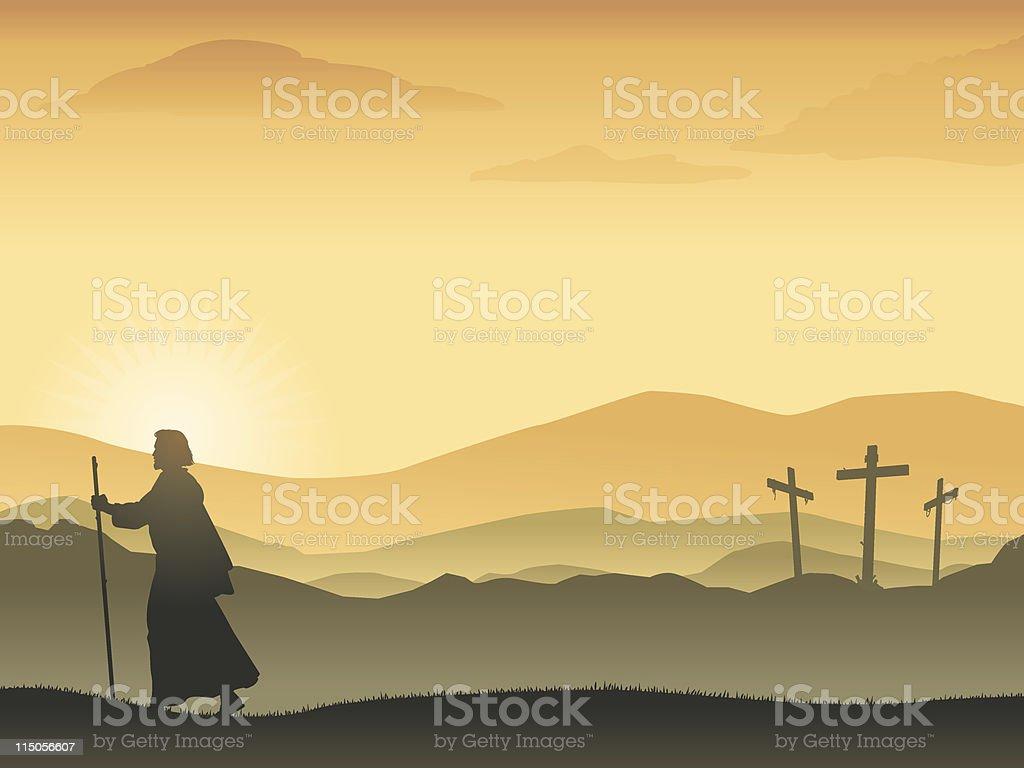 Easter Sunrise vector art illustration