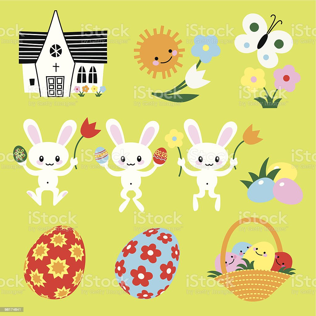 Easter Symbols royalty-free easter symbols stock vector art & more images of animal