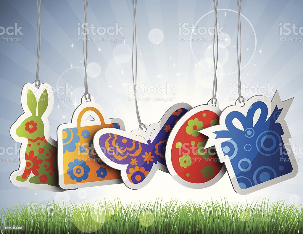 Easter tags set royalty-free stock vector art