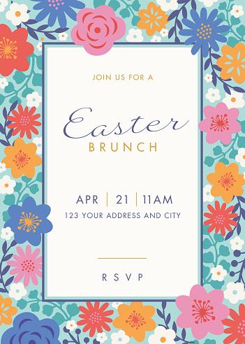 Easter themed invitation design template