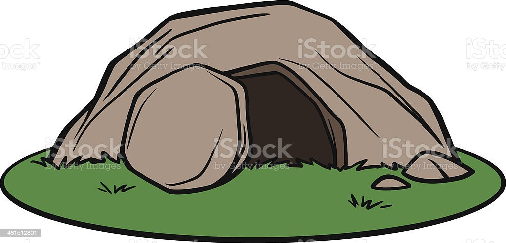 Easter Tomb vector art illustration
