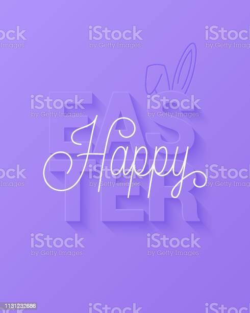 Easter vector card happy easter sign on violet background vector id1131232686?b=1&k=6&m=1131232686&s=612x612&h=bmuiwnsf9 krfjkcskzzqw4uh765mvawwv8xj436c5o=