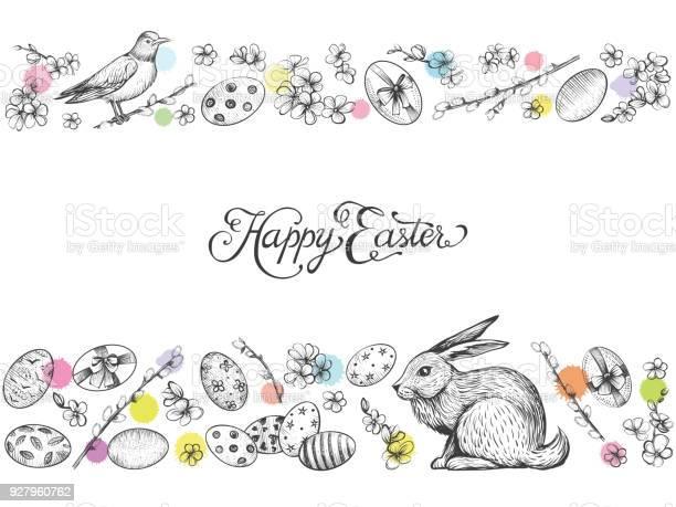 Easter vintage vector banner hand drawn card vector id927960762?b=1&k=6&m=927960762&s=612x612&h=oxkdwveb s yrgcmg1ev6xpllkkyqovfl51l2hhrmfm=
