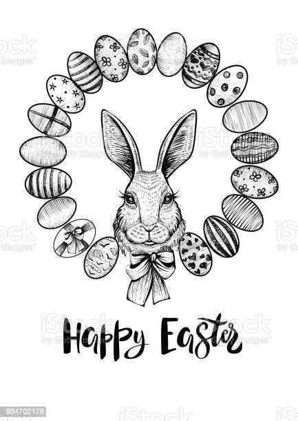 Easter wreath with eggs and head of a hare with bow happy easter and vector id934702176?b=1&k=6&m=934702176&s=612x612&h=vptcqljlmhuvhzi66az9zdzjjsrq5ah5cm0wsbp8ig4=