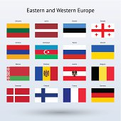 Eastern and Western Europe Flags Collection