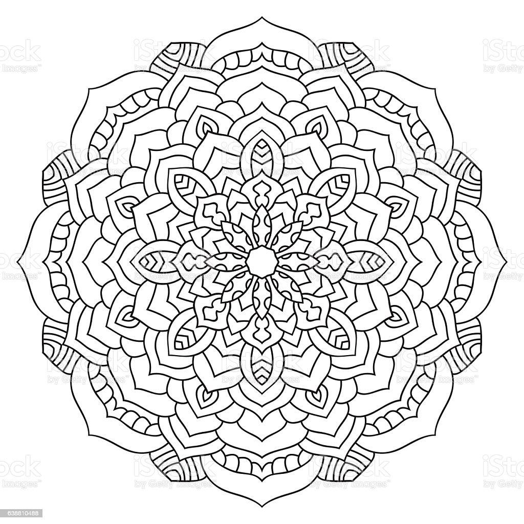 Eastern Ethnic Mandala Round Symmetrical Pattern Coloring ...