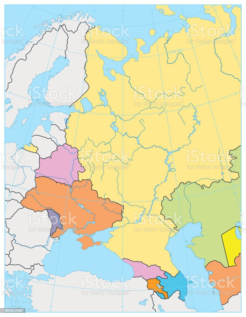 Eastern Europe Political Map No Text Stock Illustration ...