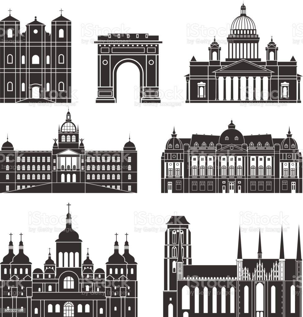 Eastern Europe vector art illustration