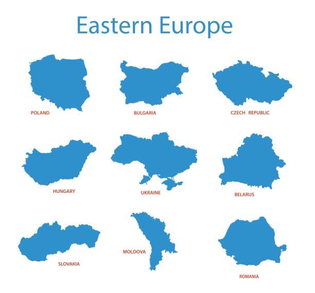 東歐-領土的向量地圖 - 烏克蘭 幅插畫檔、美工圖案、卡通及圖標