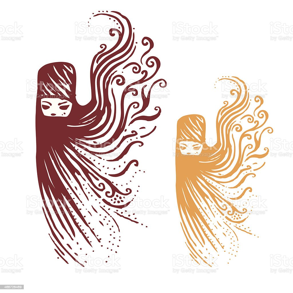 Eastern Women Vector illustration vector art illustration