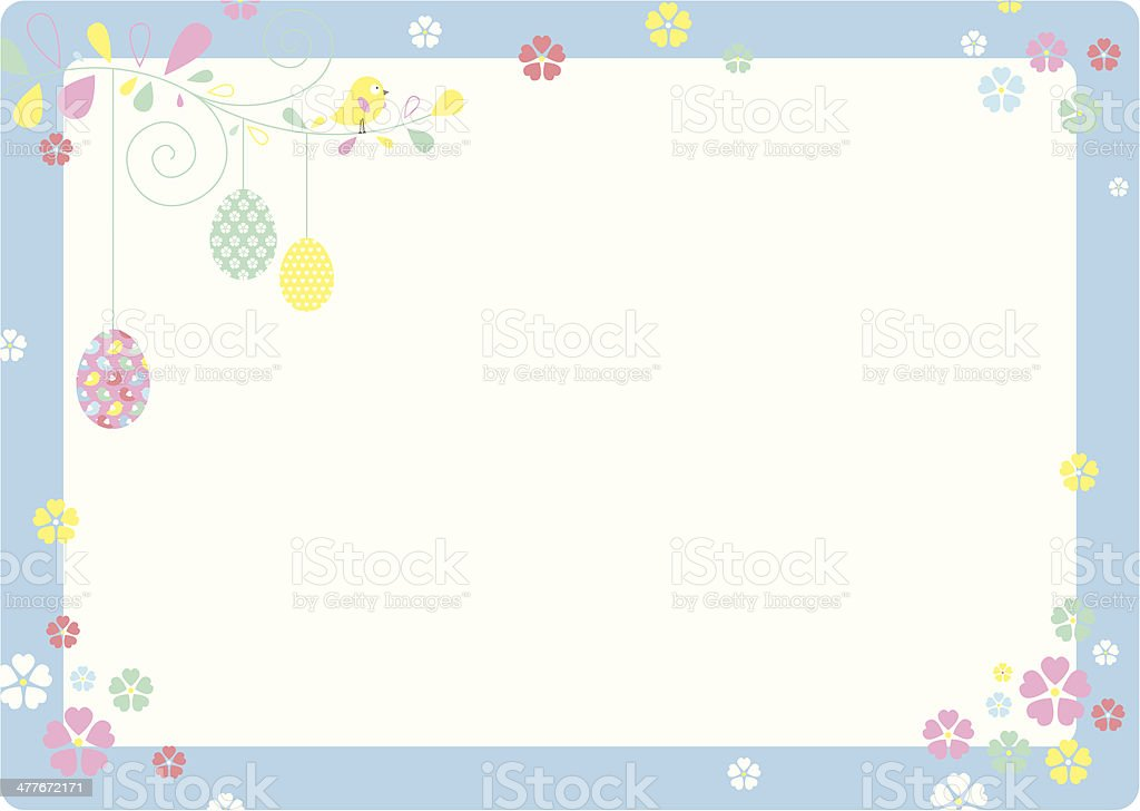Easter/Springtime Invite or Message Card royalty-free stock vector art
